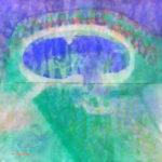 「トネールの泉」(水彩) 182×182cm・2014年