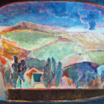 「地の譜 碧い風景」M80・油彩・2016年
