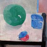 「トウガンのある静物」F10・油彩