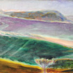 「ラベンダーの丘」P15・油彩・2017年