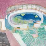 「トネールの泉」69×100cm・油彩・2017年