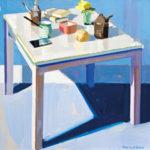「正方形のテーブル」S60・油彩・2017年