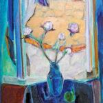 「青い窓辺」M40・油彩・2017年