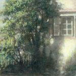土井久幸「光の詩」20×20cm・クレパス