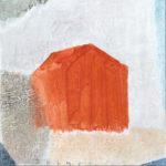 山田真二「あかいいえ」20×20cm・油彩