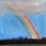 宮本英明「虹」20×20cm・油彩