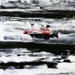 アルノー「Hinomaru Revisited」20×20cm・ミクストメディア